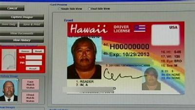 Driver's License Under New Facial Recognition Program