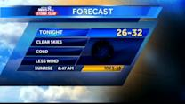 Chilly, breezy night on tap