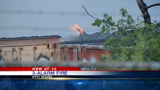 No injuries in 9th Ward 3-alarm fire