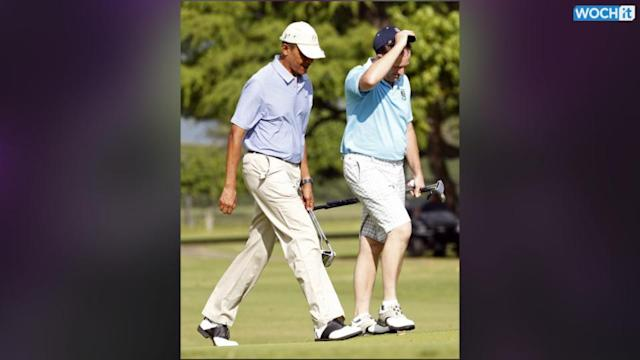 Obama Golfs In Hawaii With New Zealand Prime Minister