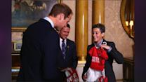 Prince William Accepts A Jersey On Behalf Of His Son