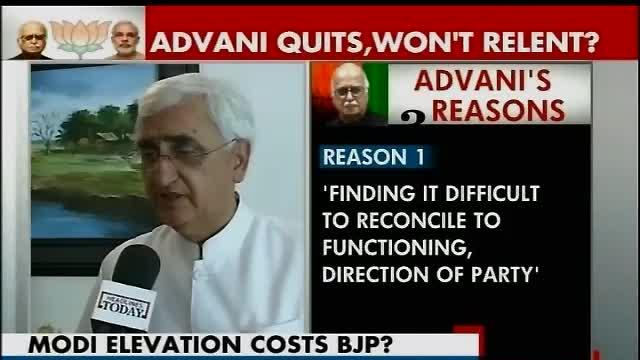 Advani's action has far-reaching consequences: Khurshid