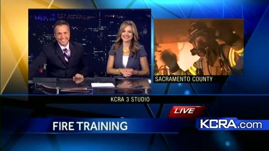 Training facility uses real fire for practice