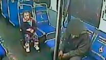 Shivering toddler boards bus alone at night for slushie
