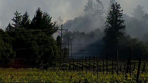 Wildfire threatens vineyards in Napa, Sonoma counties