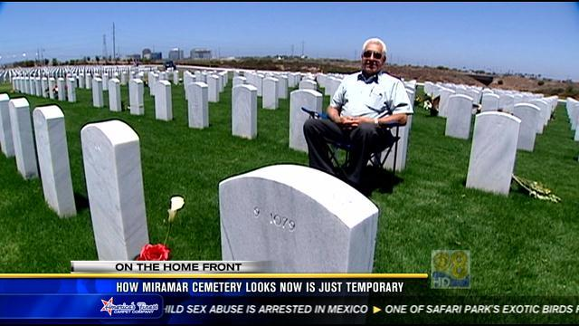 How Miramar cemetery looks now is just temporary