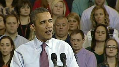 President Obama Pushes Agenda In Scranton