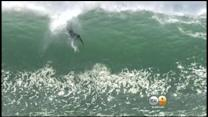 Massive Waves Draw Surfers, Spectators To The Wedge In OC
