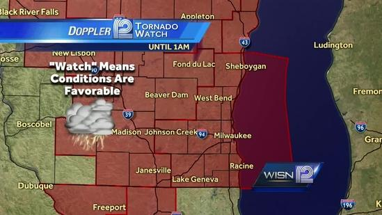Tornado watch issued for all of SE Wisconsin