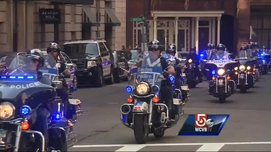 Police ride pays tribute to fallen MIT Officer Sean Collier