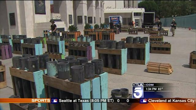 Preparations Underway for Massive Fireworks Display in Exposition Park