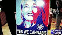 Roseanne Barr puts pot on presidential platform