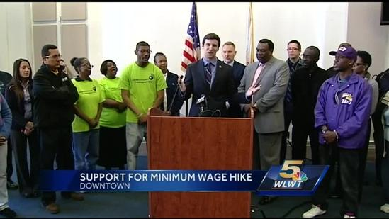 Cincinnati officials join fight to raise minimum wage