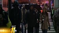 Crowds gather early for President Obama's inauguration