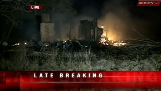 Overnight fire burns down abandoned house in Howe