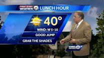 Temps to climb into the 40s today