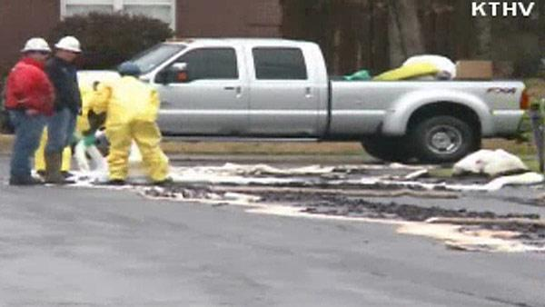 Oil spill leaks into neighborhood