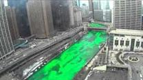 Chicago River Goes Green for St Patrick's Day