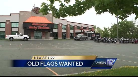 Motorcycle dealership wants your worn, tattered American flag