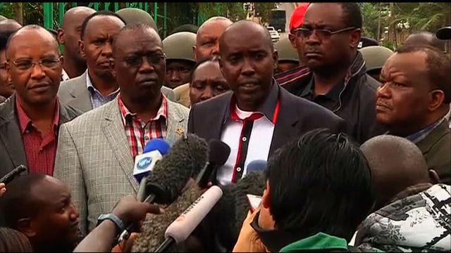 Kenyan minister discusses mall hostage crisis