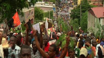 Government Critics March Through Haiti's Capital