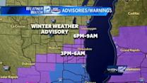 Winter Weather Advisory in effect later today