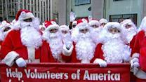 Sidewalk Santas hit the streets for good cause