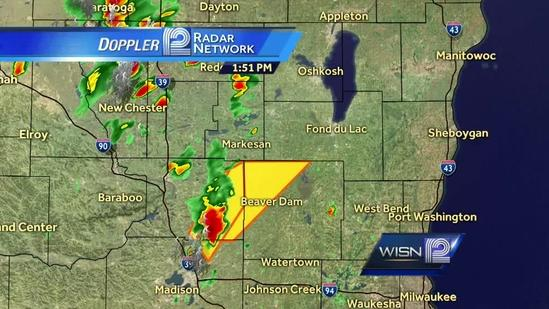 Severe thunderstorm warning issued for Dodge County