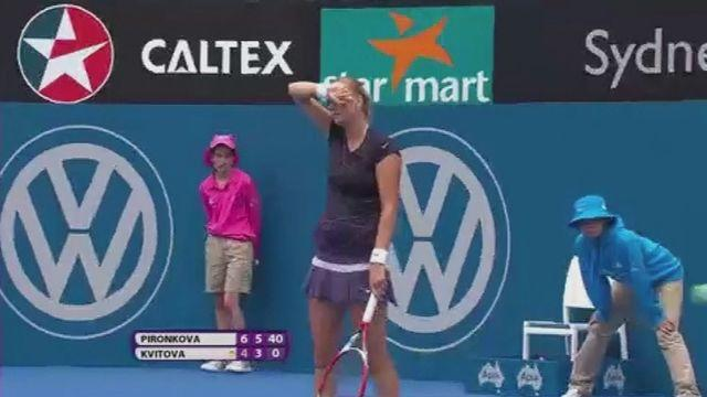 Kvitova out as Pironkova sets up final with Kerber