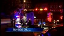 Second fire hits burned down home in Milwaukee