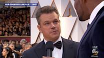 Matt Damon says Oscars host Jimmy Kimmel is 'talentless' but thinks he's 'in for it' tonight