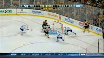 Patrice Bergeron strikes on the power play