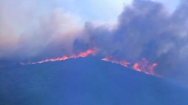 Wildfire rages in southern California