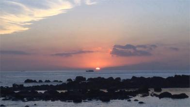 限時祕境 和平島賞絕美「火燒雲日出」