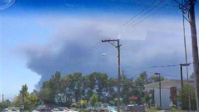 Fairfield Smoke Seen From Far Distances