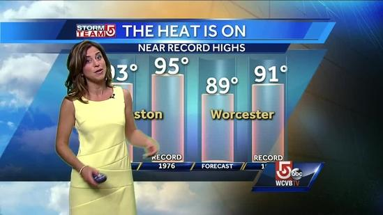 Cindy's steamy Boston-area forecast