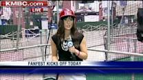 KMBC anchor takes batting practice at All-Star Game FanFest