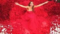 Sofia Vergara loves getting covered with roses