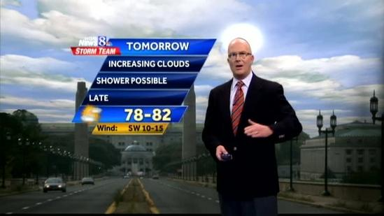 Some showers possible Friday evening
