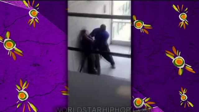 SHOCKING: School Guard Throws Girl Down Stairs