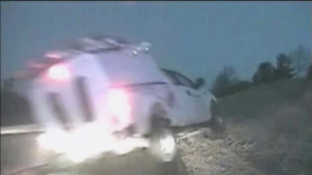 Watch: Truck goes airborne in dramatic Iowa interstate crash