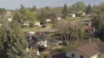 Drone Footage of Northglenn Plane Crash Aftermath