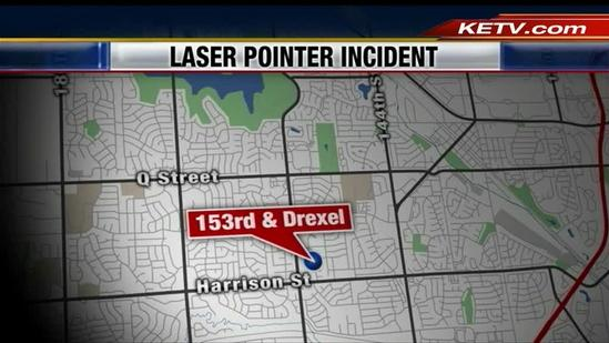 11-year-old accused of pointing laser at plane