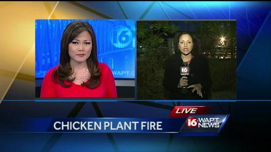 Fire breaks out at Flowood chicken plant