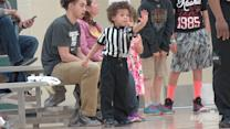 Really Cute Referee Steals The Sideline