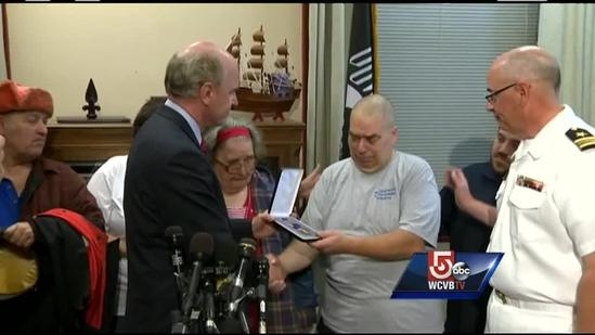 New Bedford, Mass. family receives replacement Purple Heart for late son
