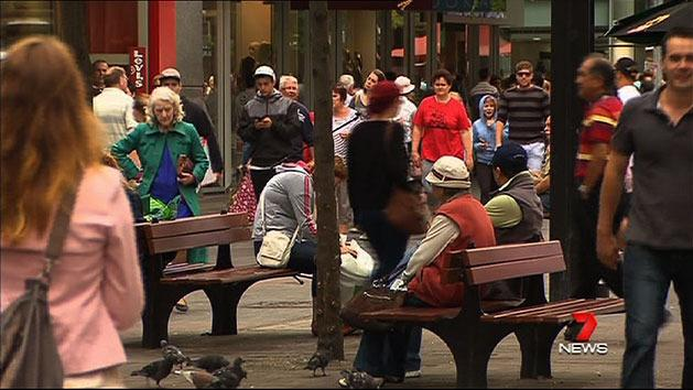 Crowds pack Rundle Mall