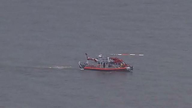 Helicopter in the Hudson River