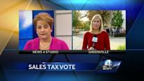 Protestors Rally against a move toward a 1 cent sales tax increase
