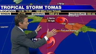 Tomas Becomes Tropical Storm Again